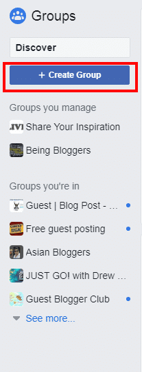 create fb group