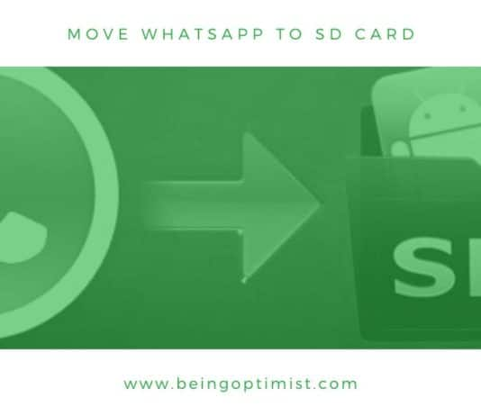 how to move whatsapp to sd card
